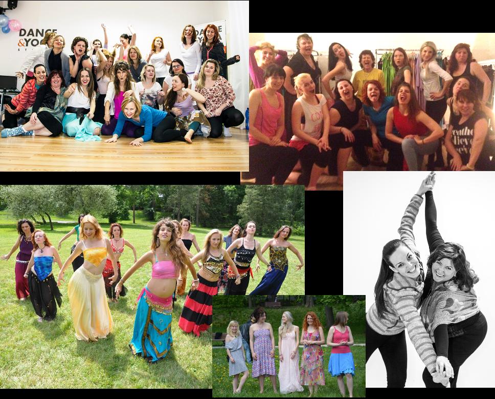 tanec, ženy, smích